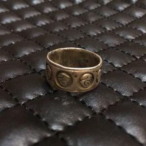 Vintage Boho Gypsy Sterling Silver Dragon Ring